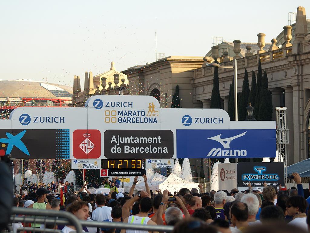 Inget helt maraton i Barcelona