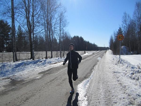 Dagens intervaller: 3x2km+4x1km