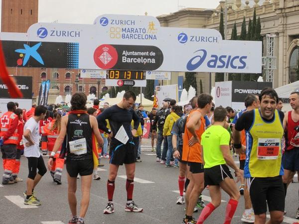 målgång barcelona marathon