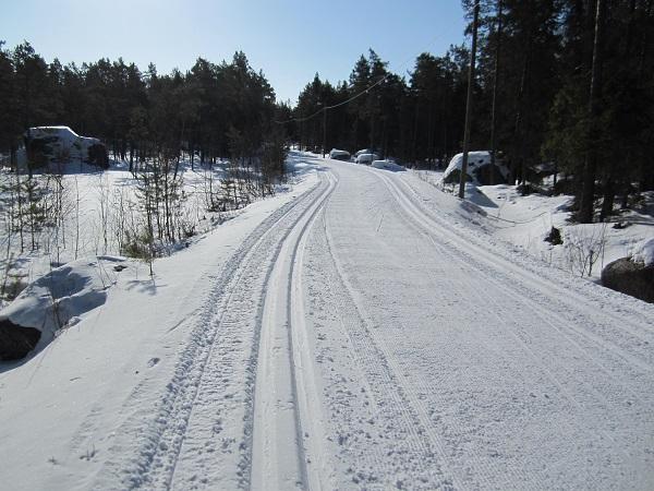 Semesterlöpning i vackert vinterväder