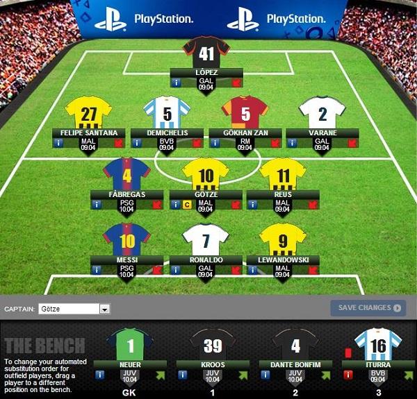 Fantasy Champions League lag