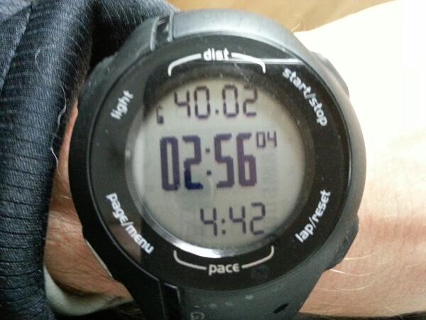 Långpass 40 km på 2:56