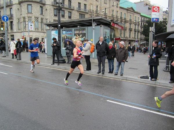 Josefin Sjölind Barcelona Marathon 2013