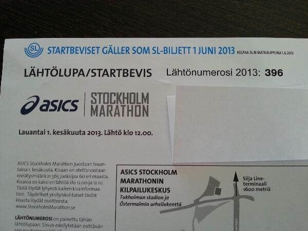 Stockholm Marathon är nära nu!