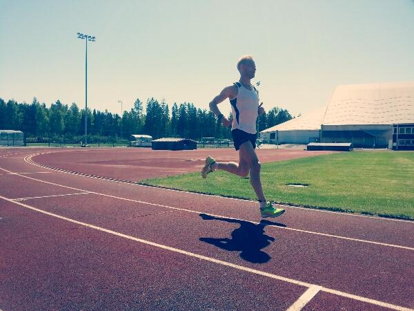 Snabbdistans 5 km + 5×200 meter