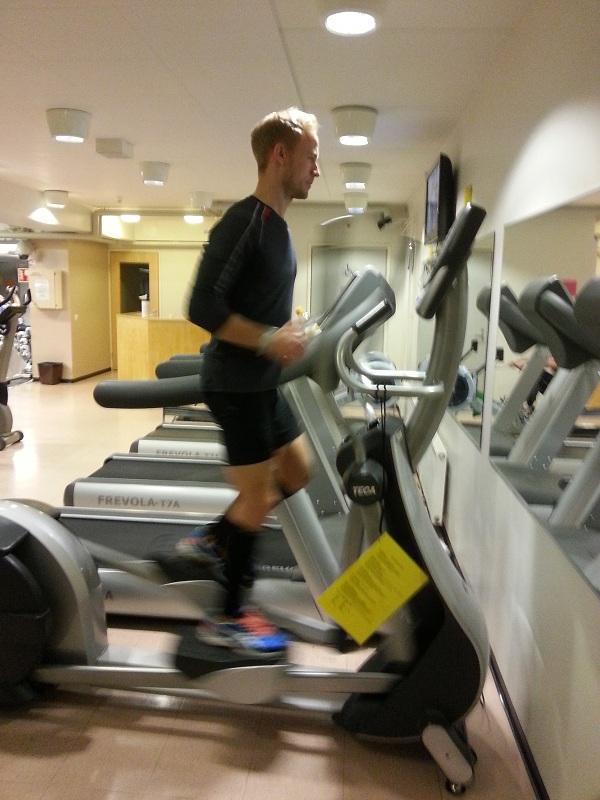 löpning på crosstrainern