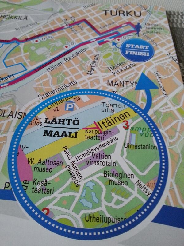 Förberedelser inför halvmaraton i Åbo