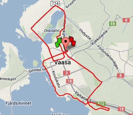 Morgonpass 13.9 15 km