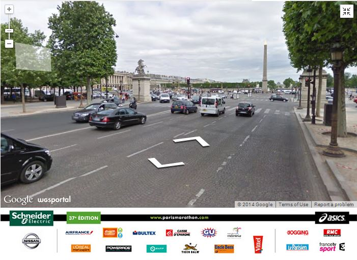 Paris marathon champs elysee