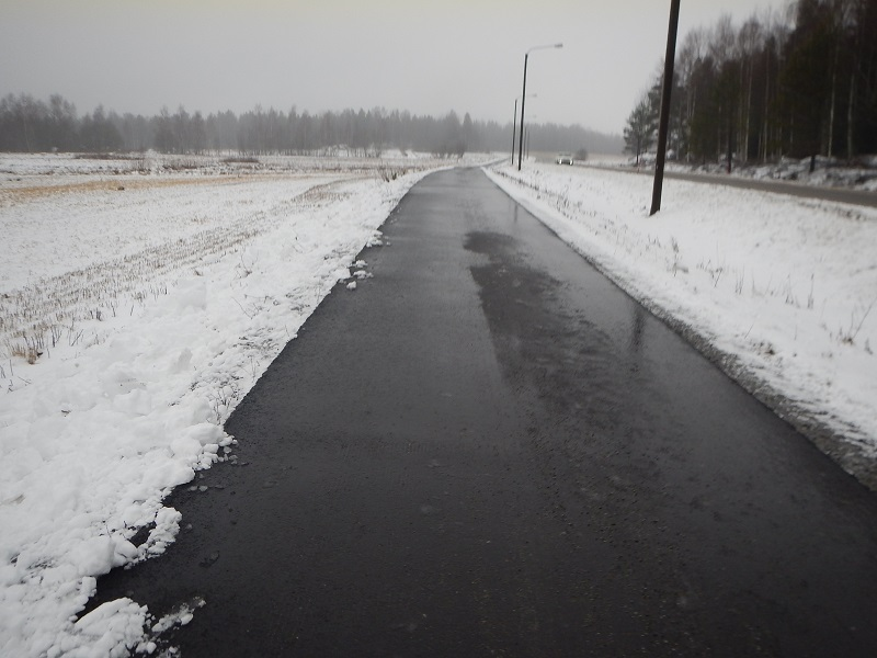 långpass 22.2.2014 smält snö