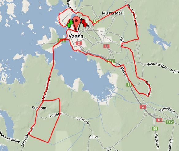 cykel långpass karta