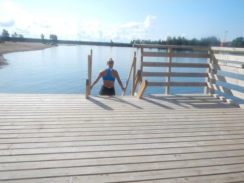 långpass 9.8.2014 simning