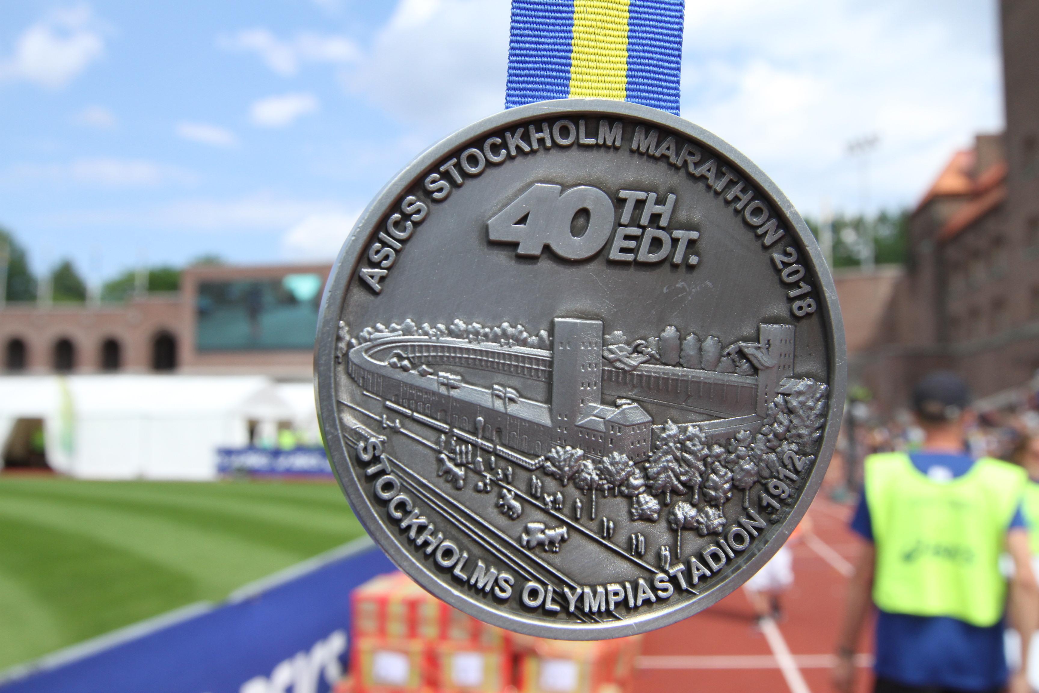 stockholm marathon 2018 medaljen