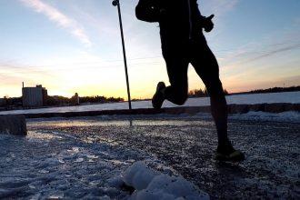 löpning vintertid