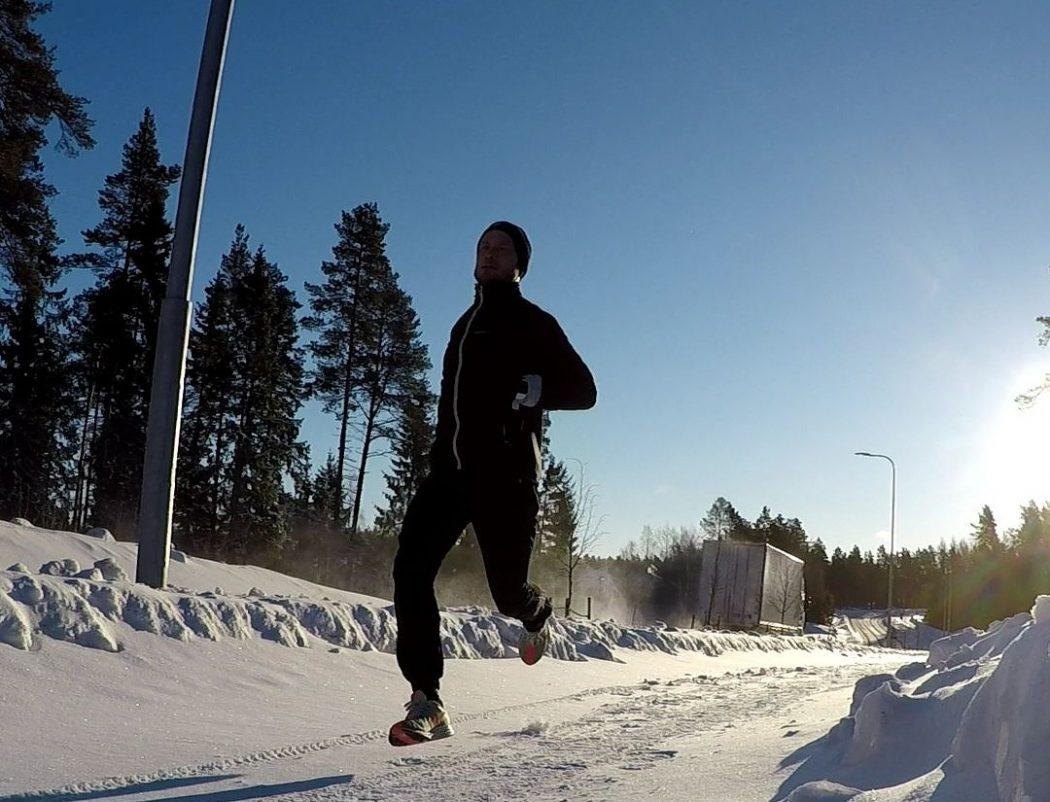maratonträning snölöpning